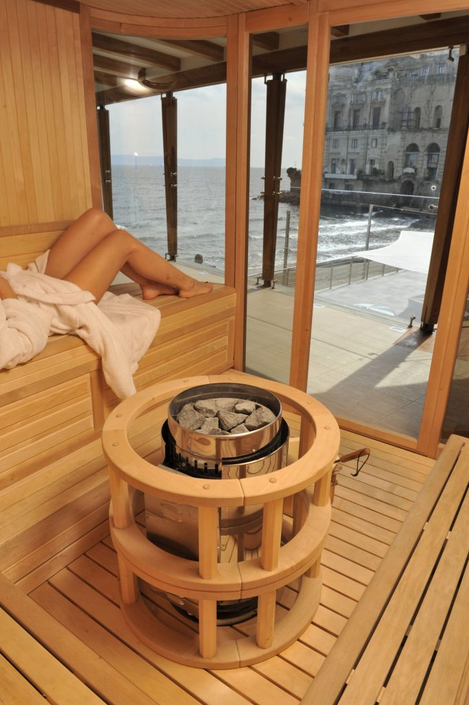Sauna con vista - dettaglio