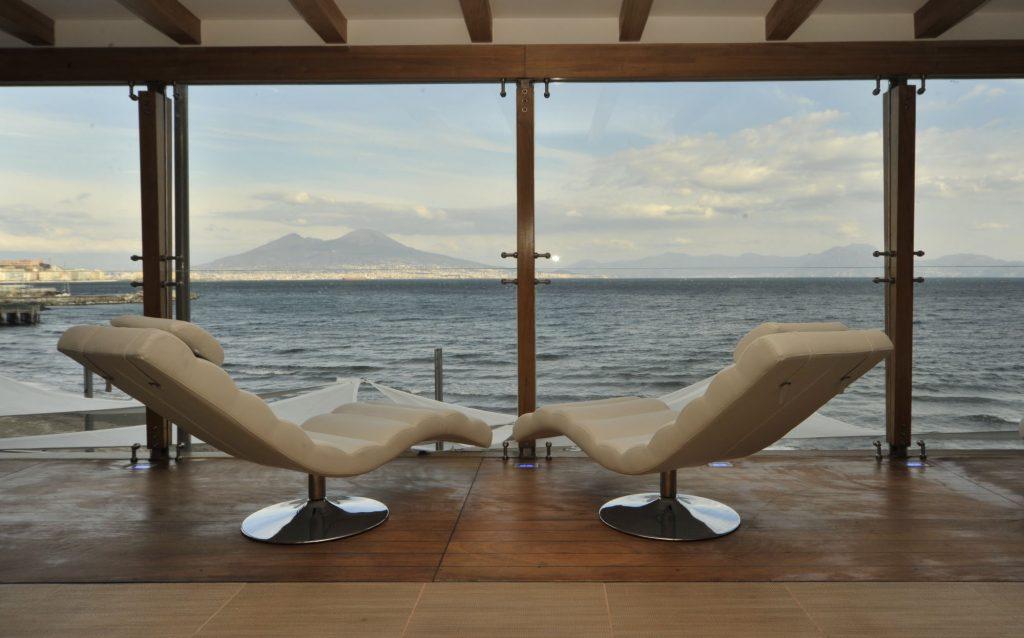 Area Relax con vista mare